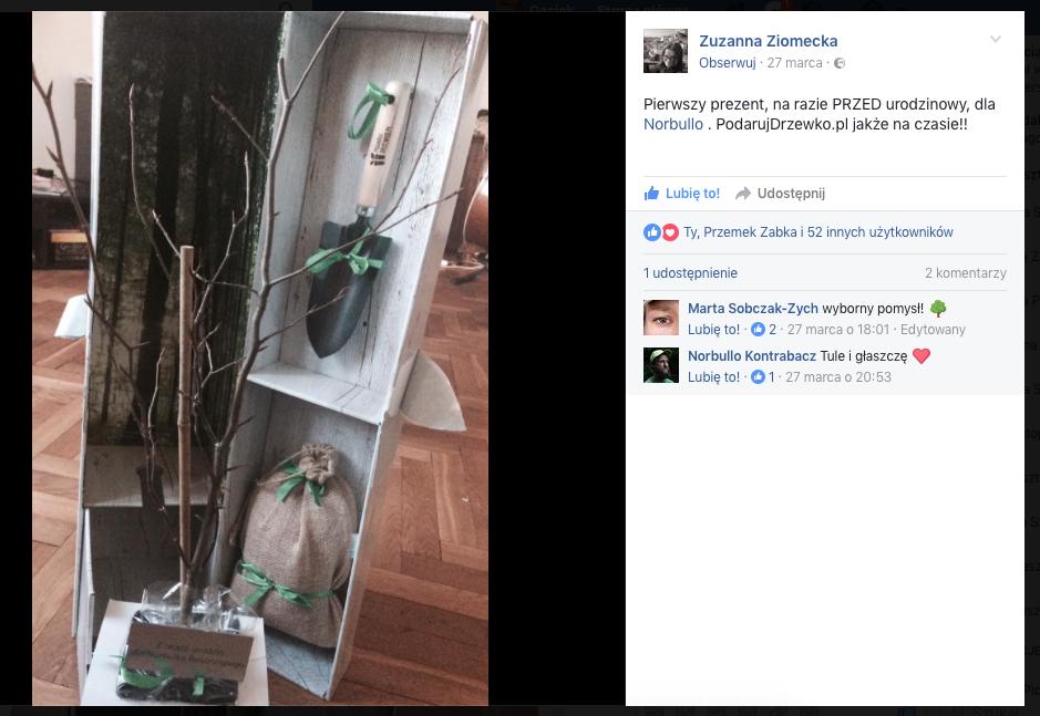 Zuza Ziomecka wybrała Podarujdrzewko.pl 2