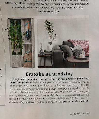 Podarujdrzewko.pl w magazynie Zwierciadło 2